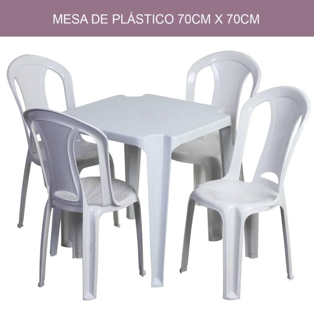Mesas Quadradas de Plástico 4 Lugares
